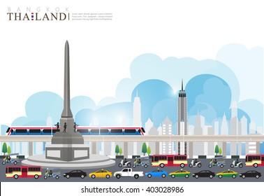 vector Landmark of Bangkok thailand
