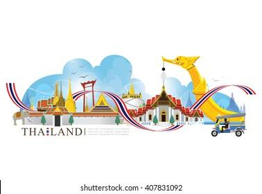 vector landmark of BangkokThailand