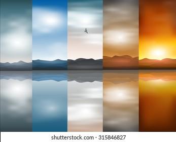 vector landscape backgrounds