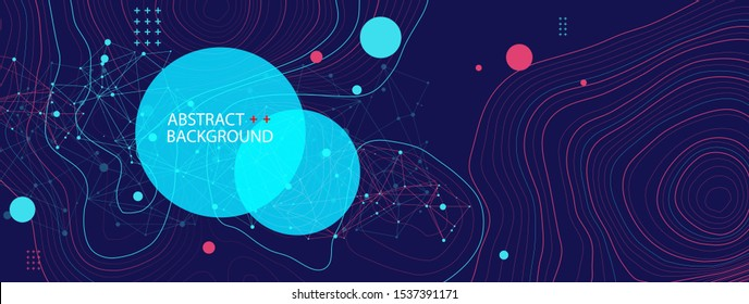 Vector landscape geodesy topography map background. Line texture pattern.