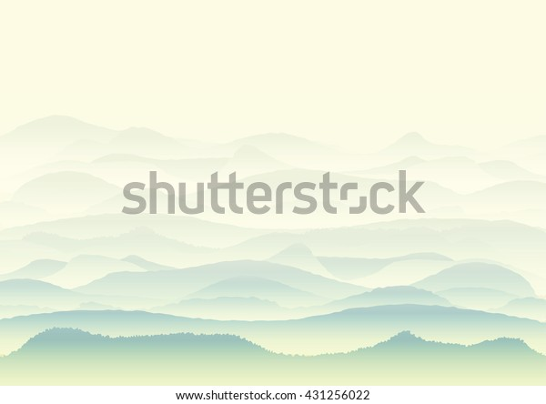 Vector Landscape Mountains Background Wallpaper Design Stock