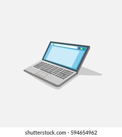 Vector Laptop Illustration