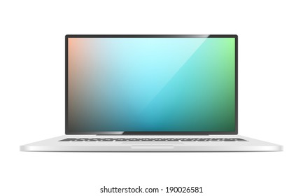 Vector Laptop isolated on white background.