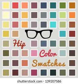 Vector large set of cool color swatches