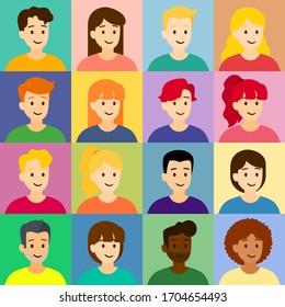 Vector large set of nice people, illustration
