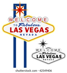 vector Las Vegas sign, fully editable