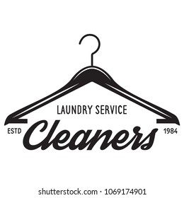 Vector laundry logo emblem, design element. logotype template and badge. Isolated on white background.