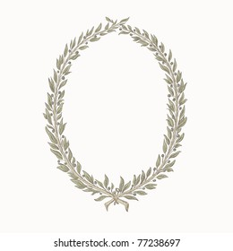 vector laurel wreath / frame, hand drawing