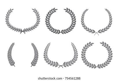 Vector laurel wreaths.Laurel wreaths collection.