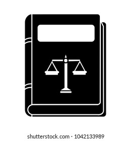 vector law book icon - legal judge book - judgment concept