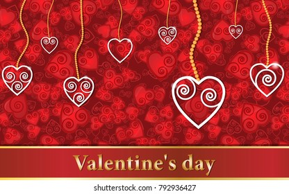 vector layout background for printing Valentines day