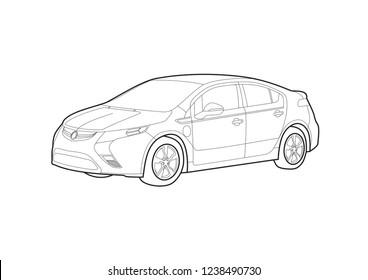 car vector car left side auto stock vector royalty free 780294535 Citroen Concept Car vector layout of contour drawing of sedan car