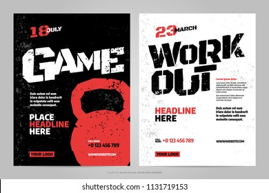 Vector layout design template for extreem sport event, tournament or championship.