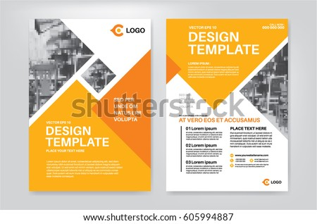 vector layout design template leaflet poster stock vector royalty