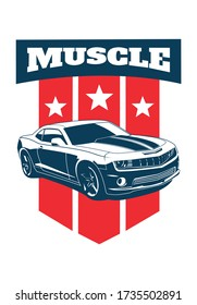 vector layout of the muscle car logo. Chevrolet Camaro.