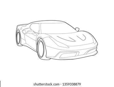 Ferrari Sport Stock Vectors Images Vector Art Shutterstock