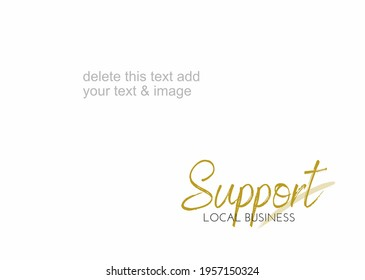 Vector layout for support local business editable, make your sales faster than usual.Minimalist design.