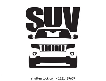 vector layout of the SUV. Jeep Cherokee.