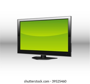 Vector lcd screen, in perspective view