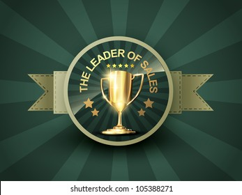 vector leader of sales label illustration