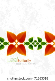 Vector leaf abstract design