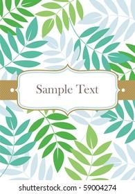 vector leaf background design