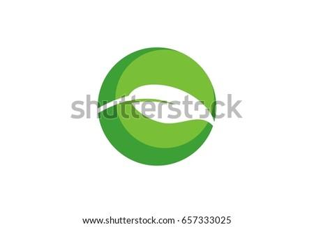 vector leaf flower logo template stock vector royalty free