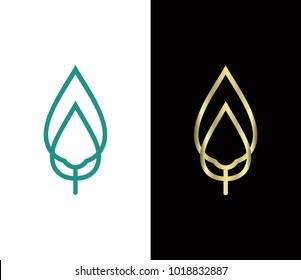 Vector leaf logo, leaf logo vector