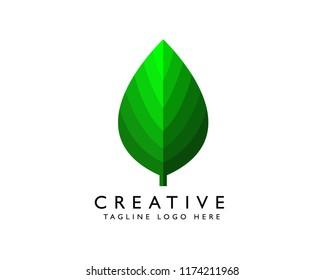 Vector leaf | logo design |  for template.