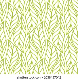 Vector Leaf Seamless Pattern. Abstract leaves texture.