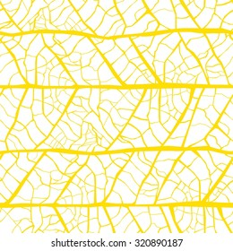 Vector leaf veins seamless texture pattern
