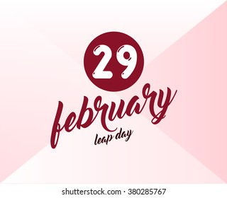 vector Leap Day with background. February 29