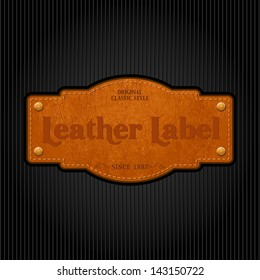 Vector leather label