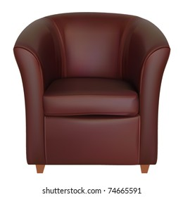 vector leather tub chair