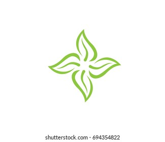 Vector leaves green nature logo and symbol