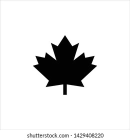 Vector leaves of maple trees, a symbol of Canada country and nature. Vector logo template