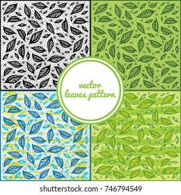 Vector leaves pattern