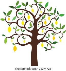 vector lemon tree
