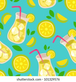 Vector lemonade pattern