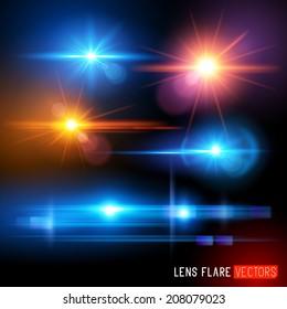 Vector Lens Flare effect Set