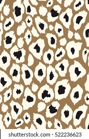 vector leopard texture of different colors brown background, leopard print