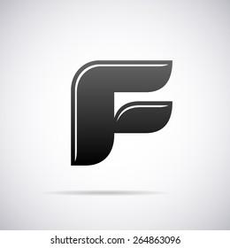 Vector letter F logo icon design template
