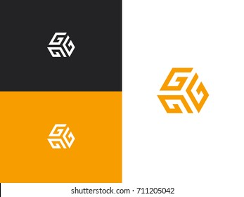 Vector Letter G Logo The Cube With Brand