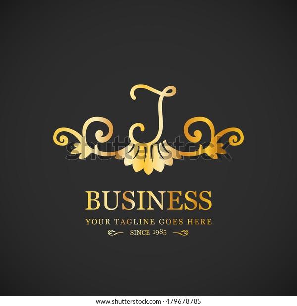 Vector Letter J Business Sign Logo Stock Vector (Royalty
