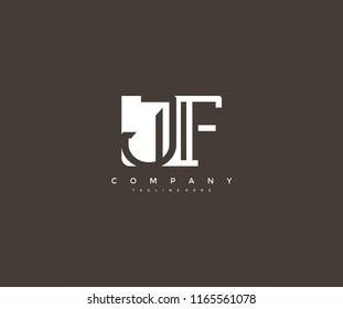 Vector Letter JF Combine Linked Modern Monogram Logo