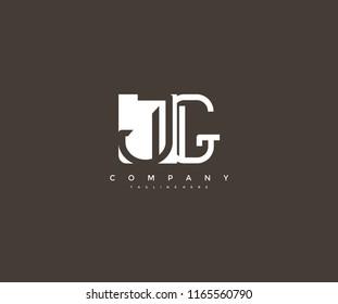 Vector Letter JG Combine Linked Modern Monogram Logo
