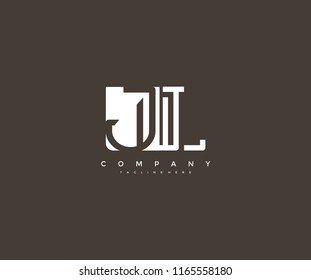 Vector Letter JL Combine Linked Modern Monogram Logo