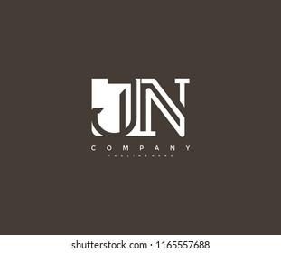 Vector Letter JN Combine Linked Modern Monogram Logo