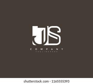 Vector Letter JS Combine Linked Modern Monogram Logo