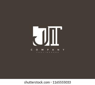 Vector Letter JT Combine Linked Modern Monogram Logo